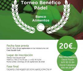 Torneo Banco de Alimento Sept. 2016
