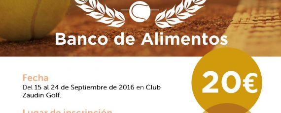 Torneo Banco de Alimentos Sept. 2016
