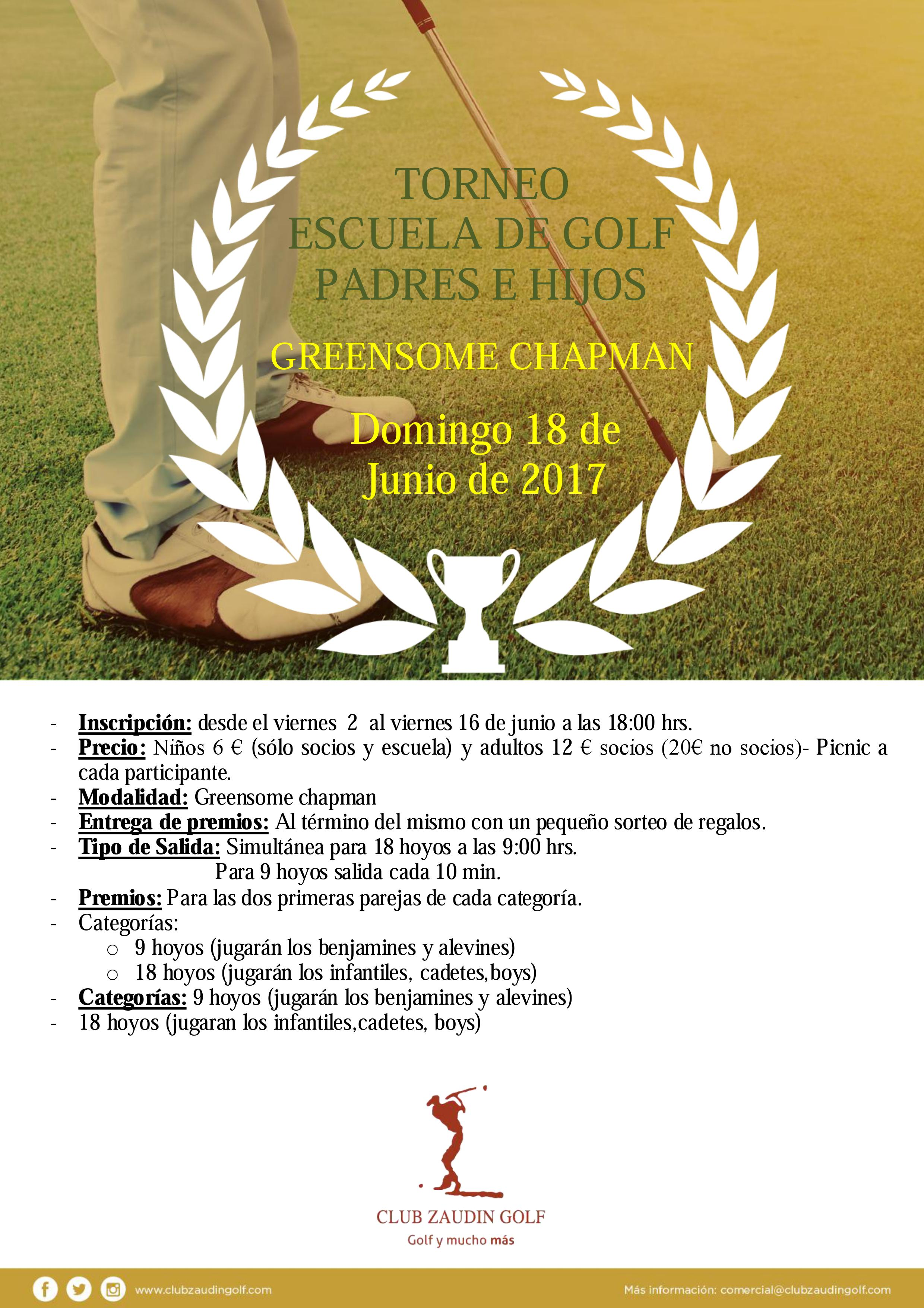 Torneo Escuela de Golf Padres e hijos