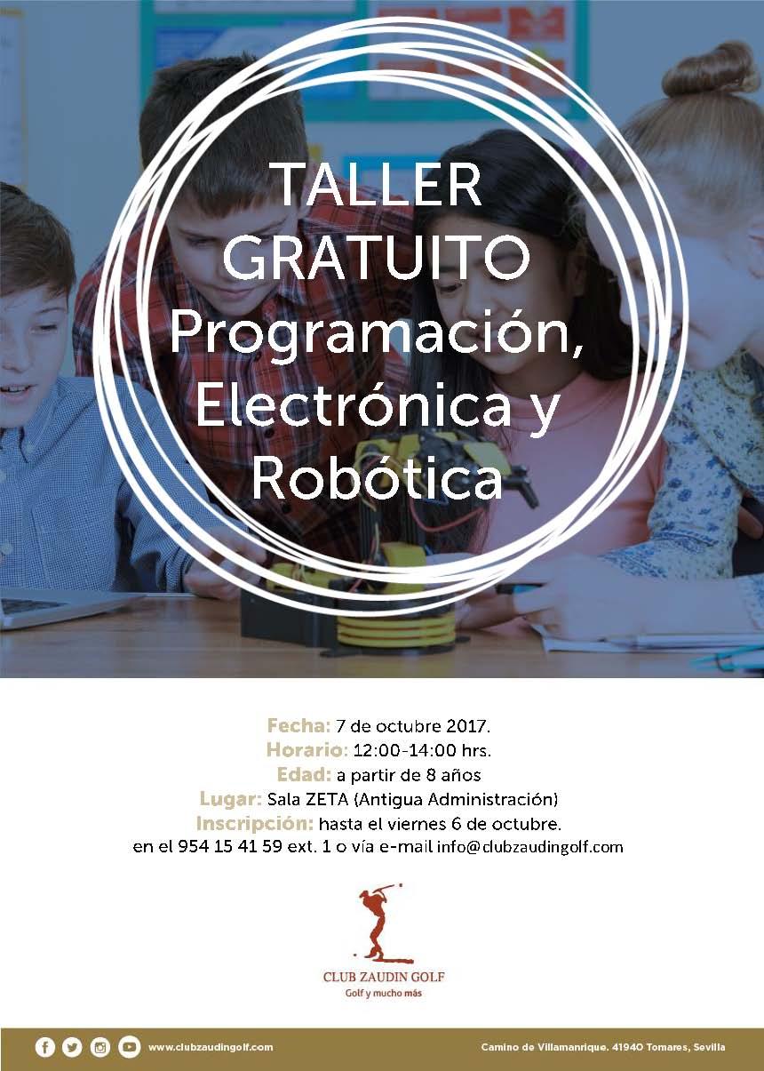 Taller Gratuito de Programación, Electrónica y Robotica