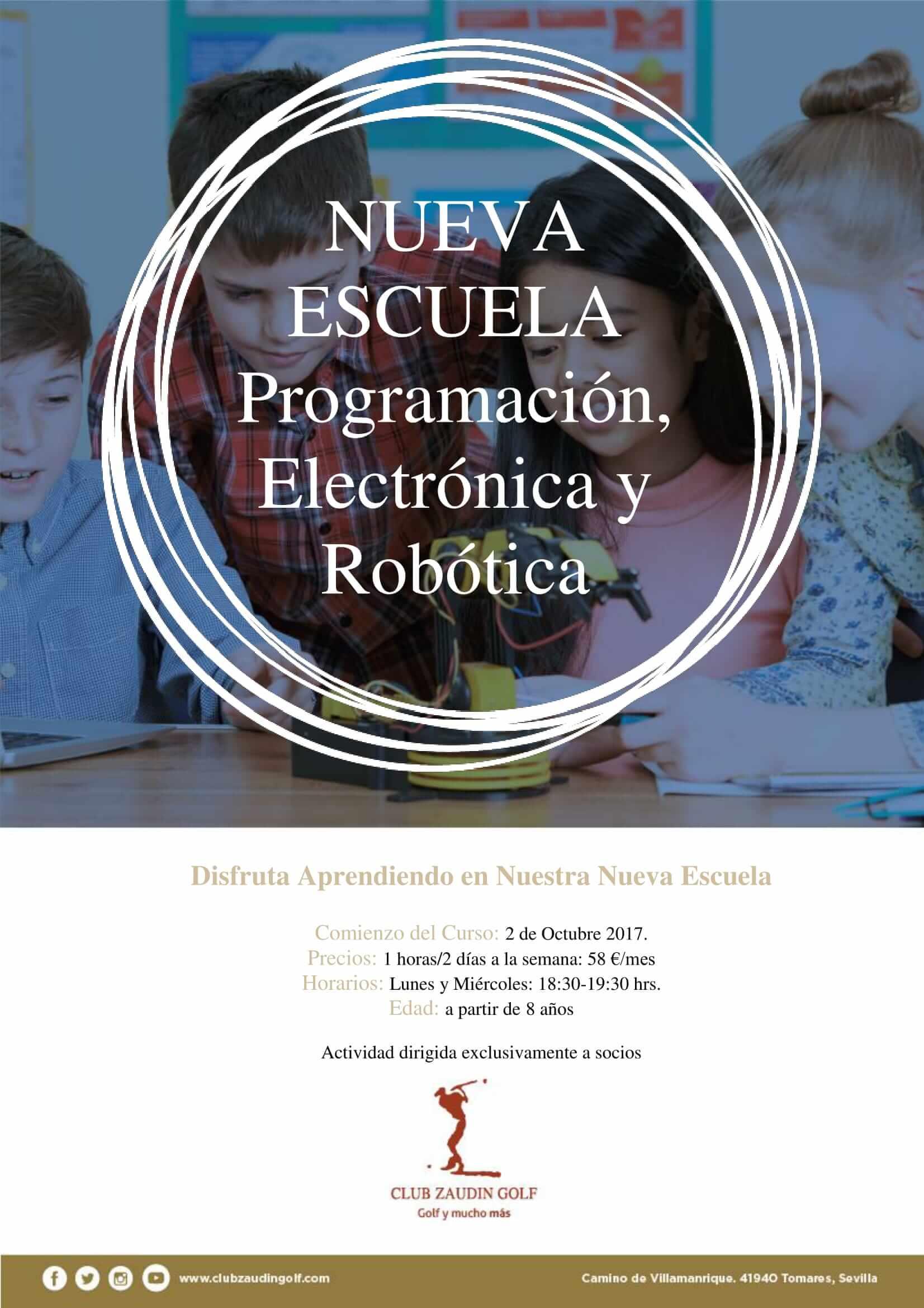 Inicio Escuela Programación, Electrónica y Robótica