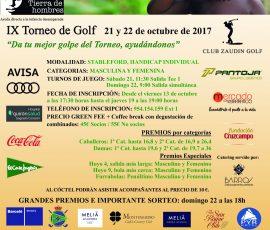 CARTEL TORNEO TIERRA DE HOMBRES