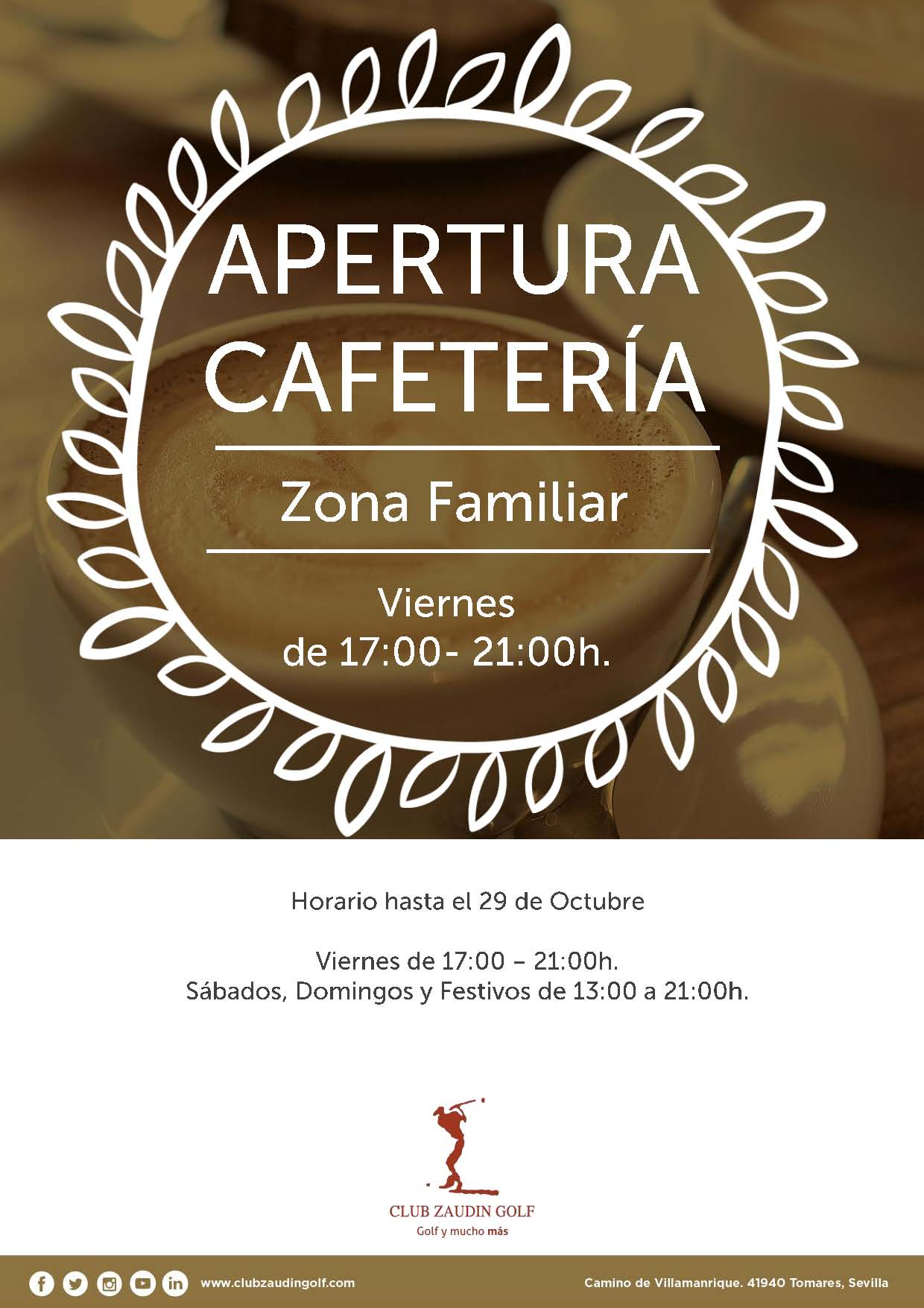 Horario Cafetería Zona Familiar