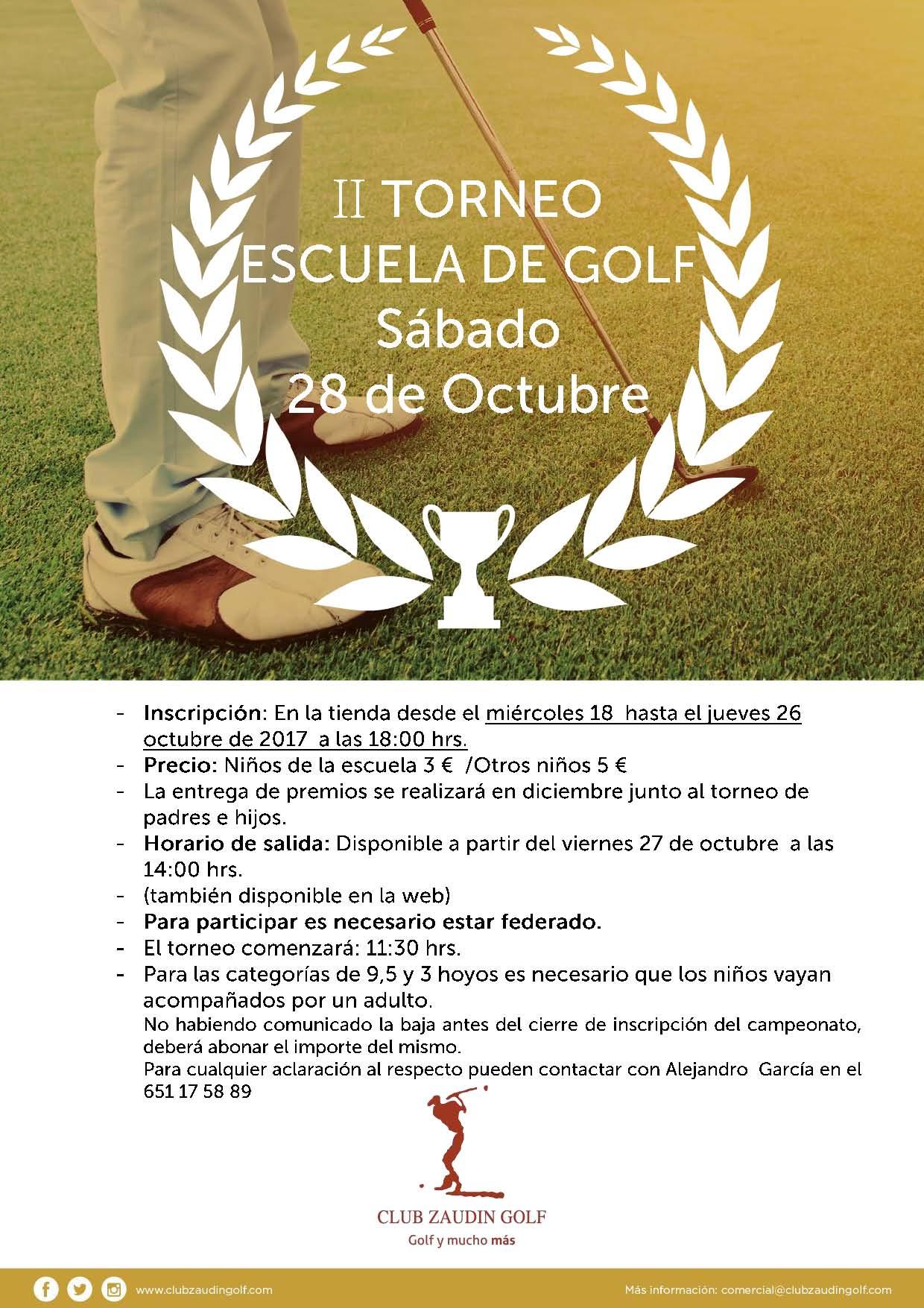 II Torneo Escuela de Golf