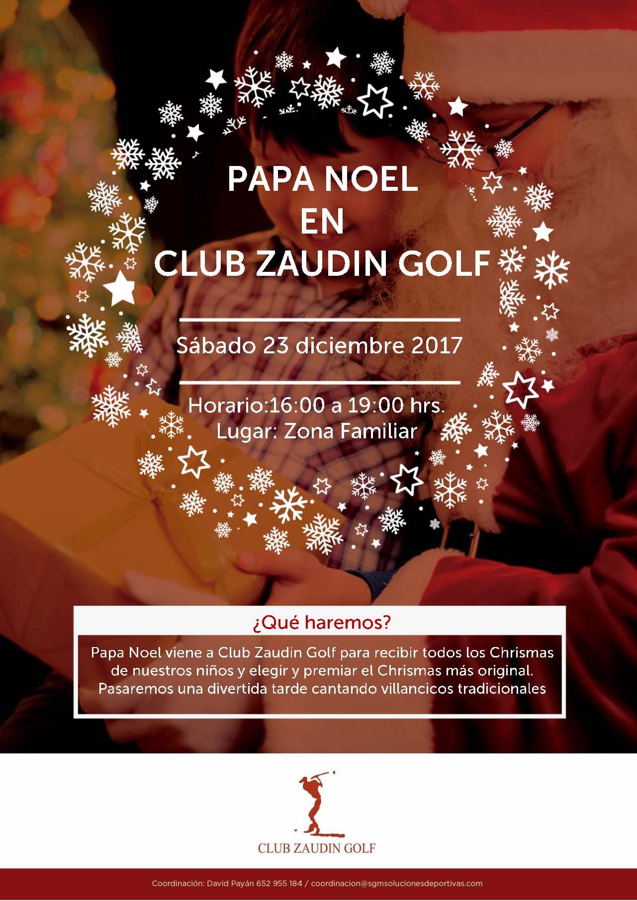 Papa Noel en Club Zaudin Golf