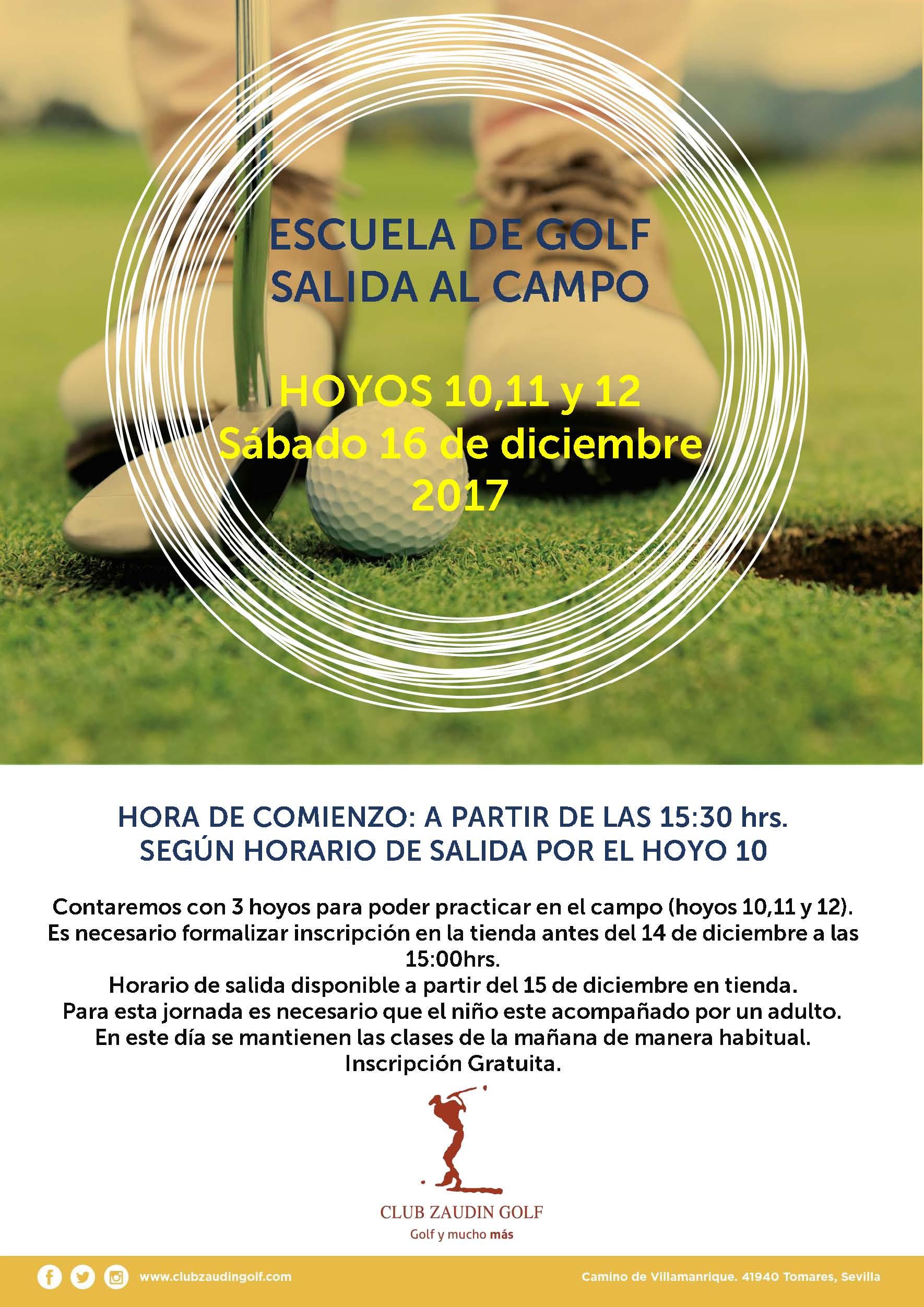 Salida Hoyos 10,11 y 12 Escuela de Golf
