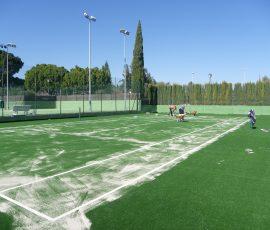 Mejora pista de tenis