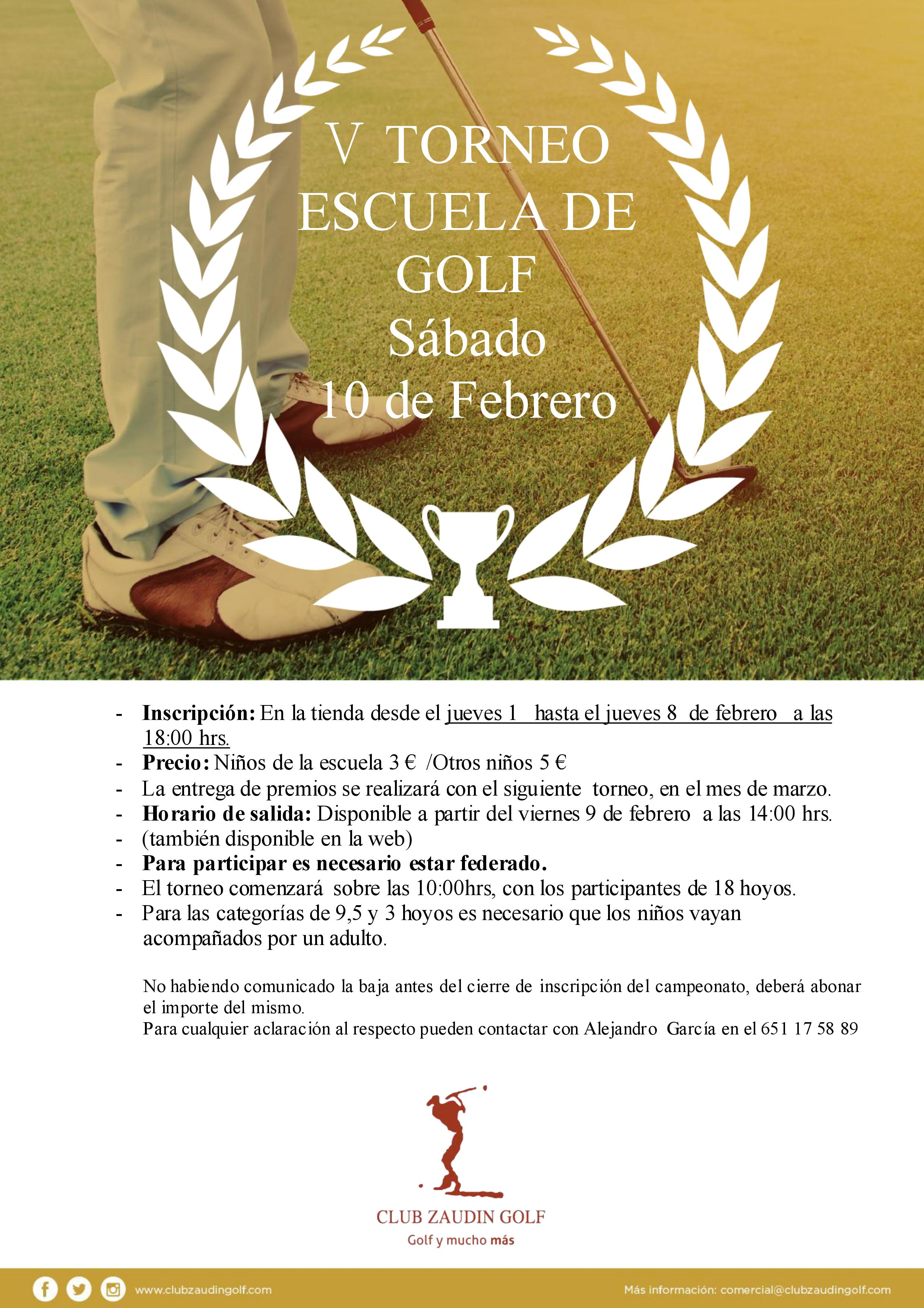 torneo escuela golf zaudin