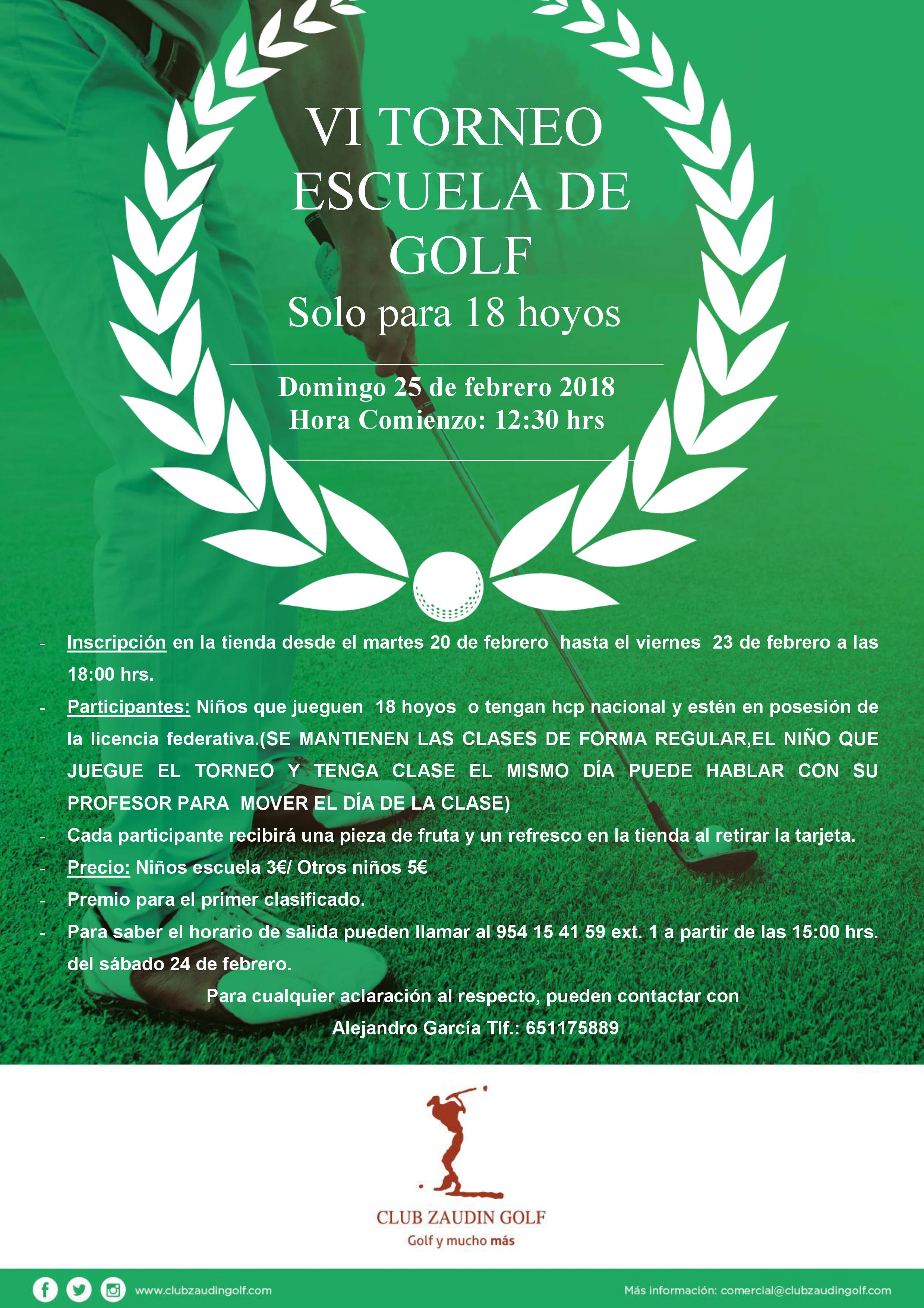 VI Torneo escuela de golf zaudin