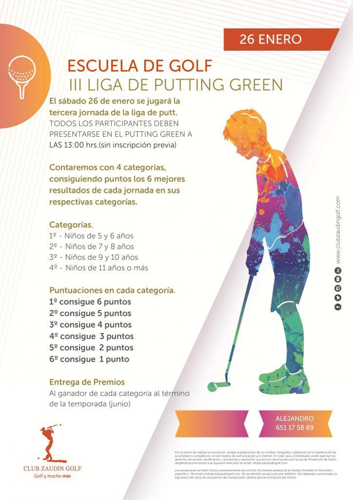 III Prueba Liga de Putting Green. Escuela de Golf