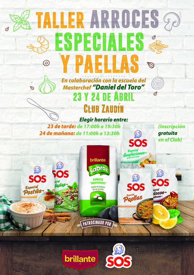 Taller Cocina Arroces Especiales y Paella